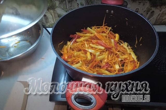 Тущение овощей