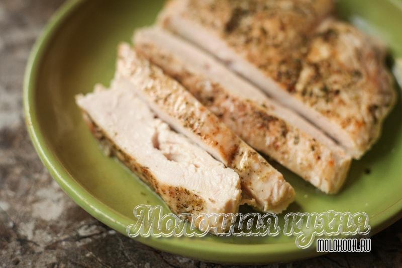 Жареная курица на сковороде без масла