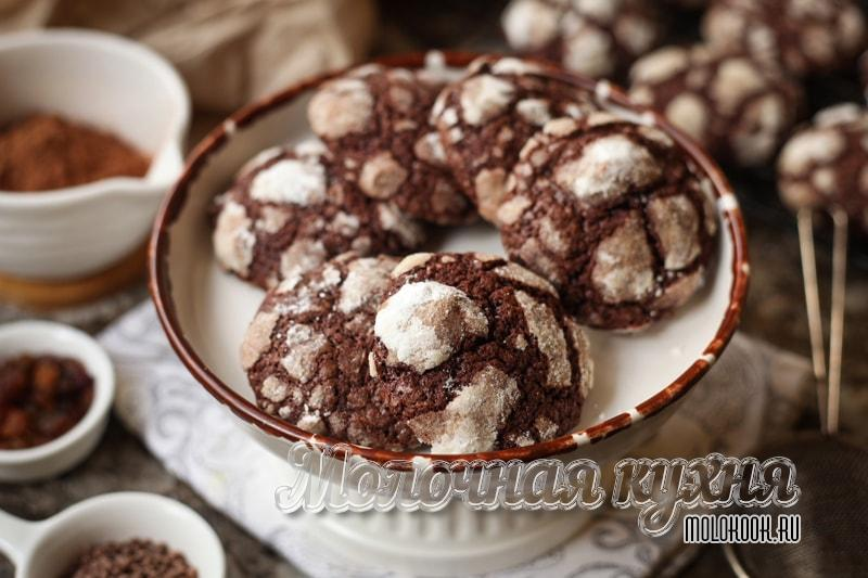 Шоколадное печенье «Кракелюр» – любимое лакомство моей семьи