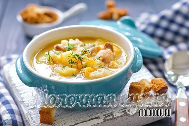 Гороховый суп из дробленой крупы с копчеными крылышками