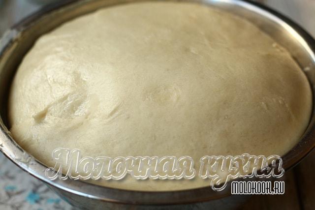 Тесто, выросшее в объеме после подъема