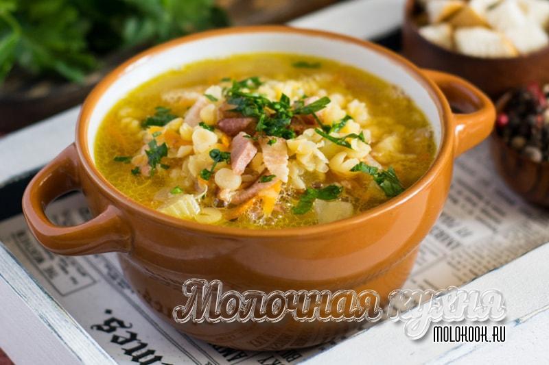 Рецепты горохового супа с добавлением копченостей