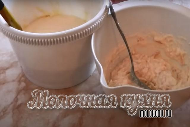 Готовое тесто и творожно-яблочная прослойка