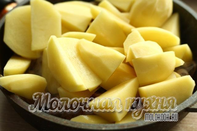 Обжаривание картофеля