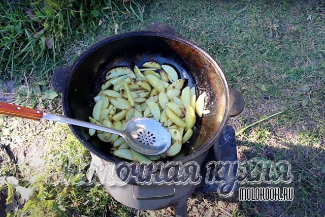 Обжаривание картошки