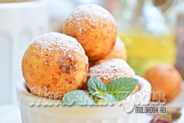 Творожные пончики, приготовленные по классической технологии