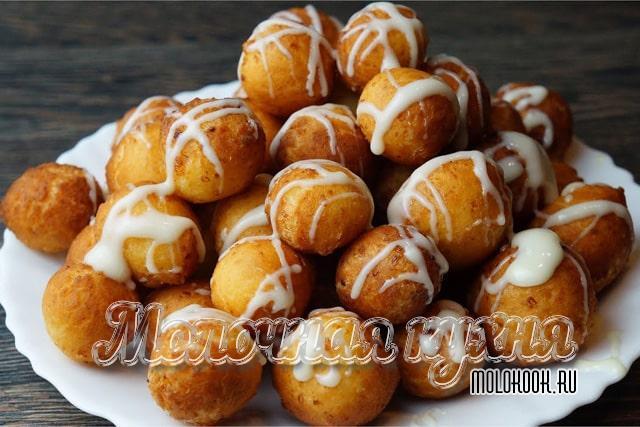 Творожные пончики с добавлением манки