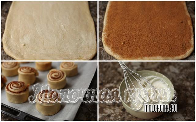 Формовка булочек и приготовление глазури