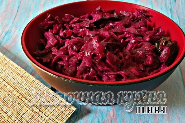 Рецепт с вареными овощами