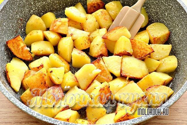 Поджаренная картошка